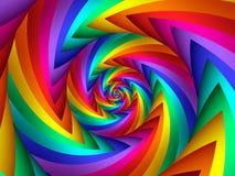 Digital Art Abstract Rainbow Spiral Background. Geometric abstract Rainbow spiral background Stock Photos