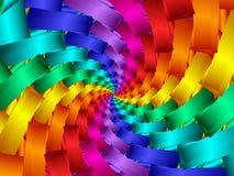 Digital Art Abstract Rainbow Spiral Background. Geometric abstract rainbow fractal spiral background Stock Photo