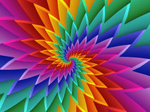 Digital Art Abstract Rainbow Spiral Background Stock Photos