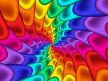 Digital Art Abstract Rainbow Spiral Background. Glossy shiny geometric abstract rainbow spiral background Stock Photos