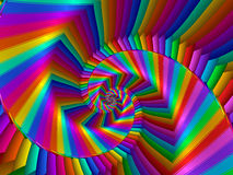 Digital Art Abstract Rainbow Spiral Background. Glossy shiny geometric abstract Rainbow spiral background Stock Image