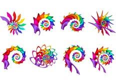 Digital Art Abstract Rainbow Spirals Stock Photos