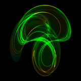 Digital art background in green colors. Royalty Free Stock Images