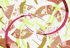 Digital Art Collage Background. An abstract texture collage background pattern design in pink, brown and green colors Stock Image