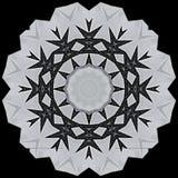 Digital art design in black and white. Digital art design. Abstract black and white star  fractal texture Royalty Free Stock Image