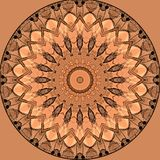 Digital art design with orange and beige filigree star Royalty Free Stock Photography