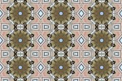 Digital art design, colorful mosaic pattern inrose golden and li Stock Illustration