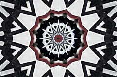 Pattern made from a half-timbered house seen through kaleidoscope Royalty Free Stock Image