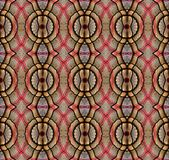 Digital art design, clothes in a bazaar seen through kaleidoscope. Digital art design. Abstract colorful fractal texture made of different fabrics and clothes royalty free illustration
