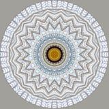 Digital art design, filigree pattern of a glass roof. Digital art design. Abstract fractal texture, glass roof seen through kaleidoscope Stock Image