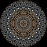 Digital art design. Filigree oriental pattern. Digital art design. Abstract pattern of a wall with arabic pattern seen through kaleidoscope royalty free illustration