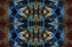 Digital art design, spices  in a bazaar seen through kaleidoscope Stock Photo