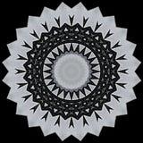Digital art design in black and white. Digital art design. Abstract black and white star  fractal texture Royalty Free Stock Photo