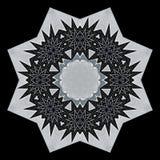 Digital art design in black and white. Digital art design. Abstract black and white star  fractal texture Stock Image