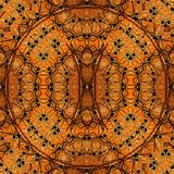 Digital art design seamless pattern  in orange and yellow Royalty Free Stock Images
