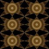 Digital art design in elegant stars in golden and brown colors Stock Photo