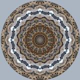 Digital art design. Filigree oriental pattern. Digital art design. Abstract pattern of a wall with arabic pattern seen through kaleidoscope stock illustration