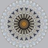 Digital art design, filigree pattern of a glass roof. Digital art design. Abstract fractal texture, glass roof seen through kaleidoscope vector illustration