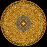 Digital art design golden disc with filigree pattern Stock Photo