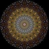Digital art design,  golden shiny mosaic  star Royalty Free Stock Image