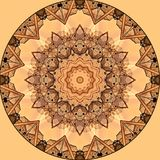 Digital art design with orange and beige filigree star Stock Photos