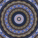 Digital art design, oriental pattern, golden and blue Stock Photos