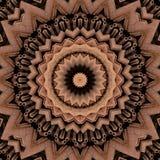 Digital art design, pattern with cinnamon sticks. Digital art design. Abstract texture made of cinnamon sticks seen through kaleidoscope stock illustration