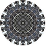 Mysteriously digital art design of filigree ornamental carved wood Vector Illustration