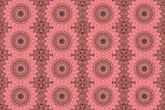 Digital art design with pink and rose filigree star. Digital art design. Abstract colorful fractal texture with filigree stars Stock Image
