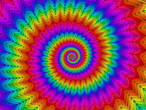 Digital Art Hypnotic Abstract Rainbow Spiral bakgrund Fotografering för Bildbyråer