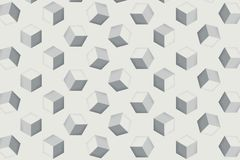 Digital art illustrator background Repeat cube is Used as a background image for painting, advertising media royalty free illustration