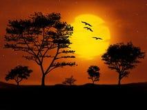 Digital Art, Landscape, Trees Royalty Free Stock Images
