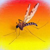 Digital Art Mosquito arkivbild