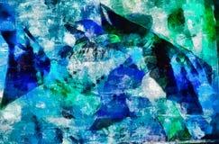 Digital art painting - red fish still life. Digital art painting -blue fish artistic still life Stock Image