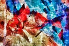 Digital art painting - red fish still life. Digital art painting - red fish artistic still life Royalty Free Stock Photography