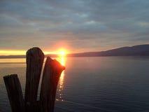 Beautiful sunset at sea. Kemer, Turkey Stock Photo