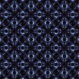 Modern Futuristic Seamless Pattern. Digital art technique futuristic style geometric abstract seamless pattern design in dark blue and black colors Stock Photo
