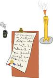 A digital art of write a letter Stock Photo