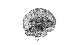 Digital artificial intelligence of the brain from polygons on white background