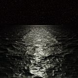 Digital Artwork. Surreal night seascape. vector illustration