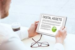 Digital assets, business concept royalty free stock photography