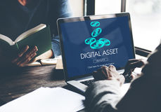 Digital Assets Finance Money Business Concept Royalty Free Stock Images