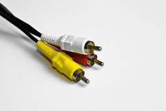 Digital audio cables Stock Images
