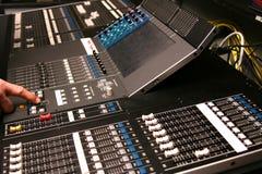 Digital audio mixer Royalty Free Stock Images