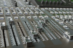 The digital audio mixing console Royalty Free Stock Images