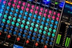 Digital Audio Mixing Desk Display stock image