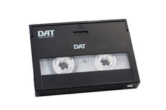 Digital audio tape DAT with path included. Digital audio tape DAT with clipping path included royalty free stock images