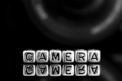 Digital auf Perlen mit einer Digitalkamera Stockfotografie