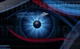 Digital-Auge mit dunklem Hintergrund Stockfotografie