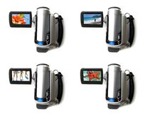 digital bärbar video för kamera Arkivbilder